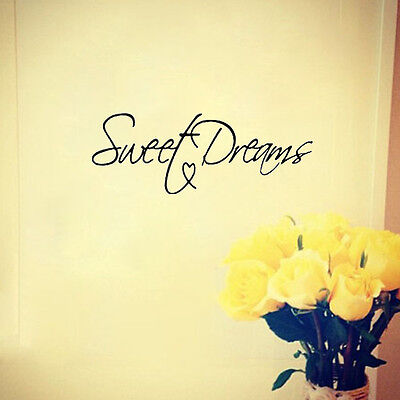 Modern Wall Sticker Sweet Dreams Lettering Vinyl Art Mural Quote Saying decals
