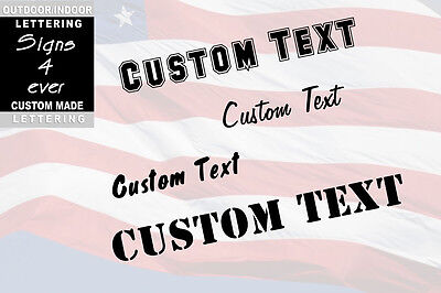 "New 3"" Custom Vinyl Lettering, Text - Personalized Wall,Window,Car Sticker Decal"