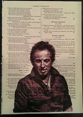 "Bruce Springsteen-The Boss print / picture approx 6 1/2"" x 9 1/2"""