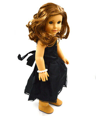 "Doll Clothes fits 18"" American Girl Handmade Black Party Dress"