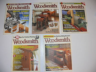 Woodsmith Magazine Lot of 5 Issues - Volume 28 / Numbers 163-166 & 168