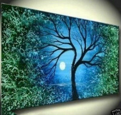 """Tree"""" Art Large Original Abstract Hand Oil Painting 24""""X48( No frame )"""