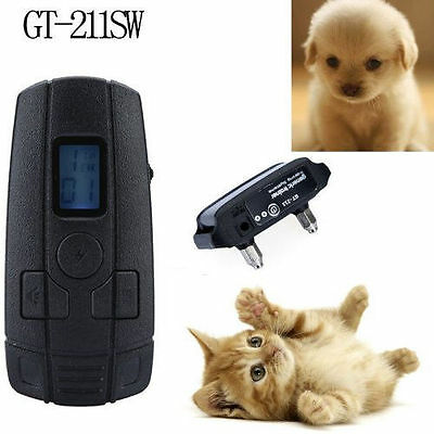 Small Pet Dog Remote Trainning Collar 10LV Shock Vibra 400 Yard Rechargeable US