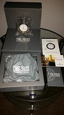 ~NIB WATERFORD CRYSTAL PAVILLION CLOCK~DUST BAG~PAPERWORK~SIGNED~IRELAND