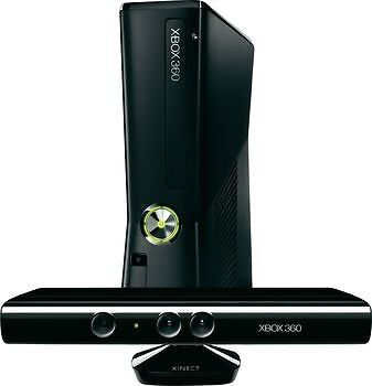 Microsoft Xbox 360 E (Latest Model)- with Kinect 4 GB Black Console (NTSC)