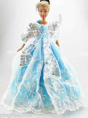 Fashion New Handmade Wedding Clothes Outfits For Barbie Doll d848