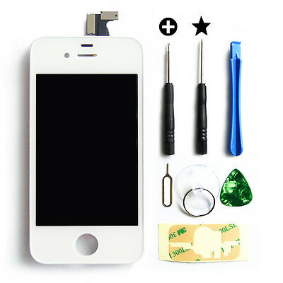 Replacement LCD Touch Screen Digitizer Glass Assembly OEM for iPhone 4S White