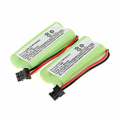 2Pcs 800mAh Cordless Phone Rechargeable Ni-MH Battery For Uniden BT-1008