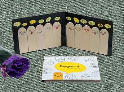 200 Pages Hot Ten Fingers Sticker Post It Bookmark Flags Memo Sticky Notes Pads