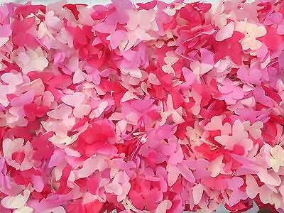 Pink Butterfly Biodegradable Confetti - Large Bag Eco Friendly Wedding Handmade