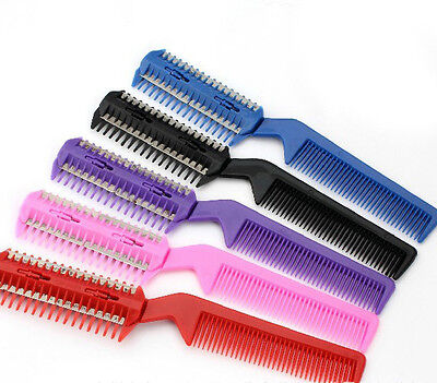 Buy two get one free Scissor DIY Hair Razor Comb Hairdressing Thinning Trimmer