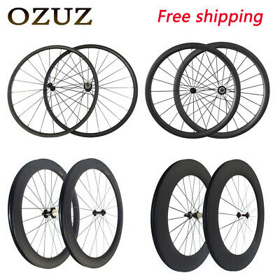 Sale Promotion 50mm deep Clincher 700C Carbon Wheels Road Bike Bicycle Wheelset