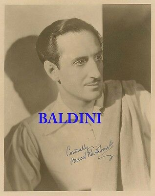 Basil Rathbone Signed 10X8 Photo,  Great Film Still Image, Looks Great Framed