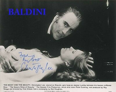 Christopher Lee Signed 10X8 Photo,  Great Film Still Image, Looks Great Framed