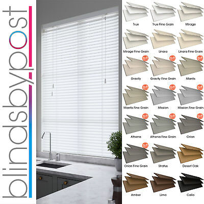 Faux Wood Impression Venetian Blinds - Made To Measure - 21 Colours