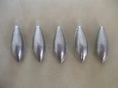 5 x Sea fishing  beach bombs lead weights different sizes(3 4 5& 6o/z)