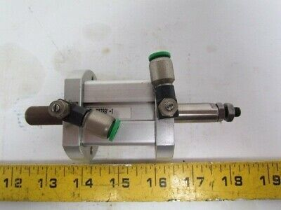 "Numatics S4CG-01A1A-ADA4 Pneumatic Air Cylinder 1-1/8"" Bore 1"" Stroke Double Rod"