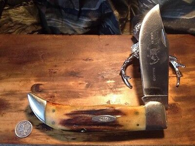 CASE XX TESTED VINTAGE 1965-1969 GNARLY STAG CLASP BULLDOG 5172 KNIFE KNIVES NR