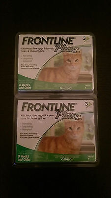 Frontline Plus for Cats 6 Month Supply  (2X3 each)  FREE SHIPPING!!!
