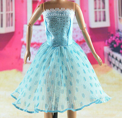 lovely New Handmade Party Clothes Fashion Dress for Noble Barbie Doll   **bab98