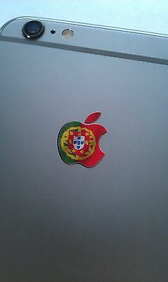 Portugal / Portugese Flag Logo Decal Sticker for iPhone 4/4S/5/5S/6/6S/7 Plus