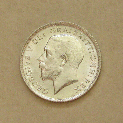 Silver Sixpence 1915 Coin King George V Brilliant Uncirculated Grade