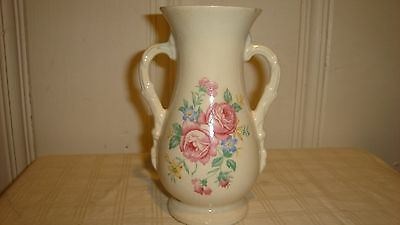 Double Winged Floral Royal Copley Vase - Early Mid Century - Beautiful