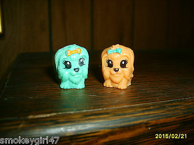 Squinkies Lot of 2 - Puppies, New Loose - Retired