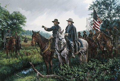 """""""New Day at Appomattox"""" John Paul Strain Classic Canvas Giclee - Lee and Grant"""