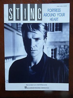 Sting FORTRESS AROUND YOUR HEART 1985 Sheet Music     NEVER BEEN USED    ROCK