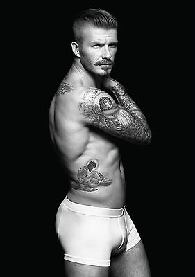David beckham Underpants Large Poster Art Print Black & White in Card or Canvas