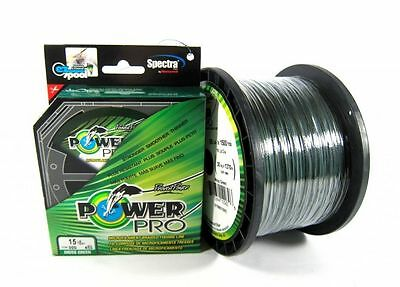 Power Pro Braided Spectra Fishing Line 50lb by 500yds Green