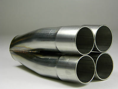 "4 - 1 304 Stainless Merge Collector 2"" 2.0"" in 3 1/2"" 3.5"" out header exhaust"