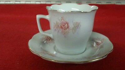 Vintage Remington Fine China Tea Cup & Saucer Roses