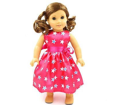 "Doll Clothes fits 18"" American Girl Handmade Handmade Star pattern Dress"