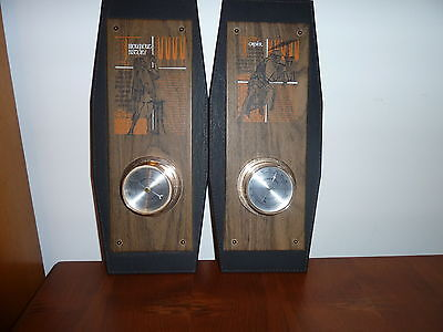 Vintage HOZEL Indoor Wall Thermometer & Barometer Springfield Made in U.S.A.