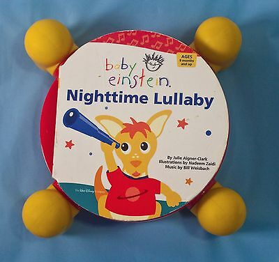 RARE Disney BABY EINSTEIN Nighttime Lullaby MUSICAL BOARD BOOK Motion Activated
