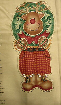 "Craft Panel Daisy Kingdom ""Reggie Reindeer Door Panel"" Approximately 46"" Tall"