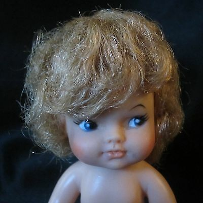 """VINTAGE EEGEE 4"""" DOLL #3A 1966 NO CLOTHES RED SHOES~ADOREABLE FACE~VERY SWEET"""