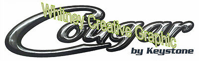 """1 each Cougar RV  GRAPHIC DECALS 64/"""" X 16/"""" Made fresh Not Expired"""