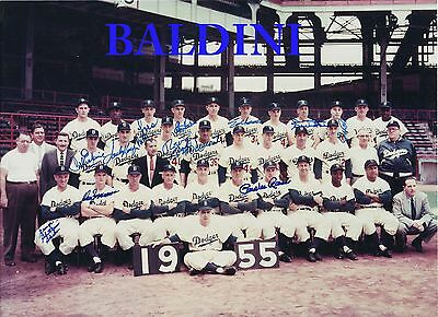 Brooklyn Dodgers 1955 Team Signed 10X8 Photo - Great Collectable - Dont Miss Out