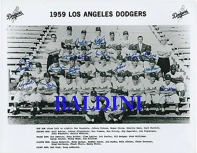 Los Angeles Dodgers 1959 Signed 10X8 Photo - Great Collectable - Dont Miss Out