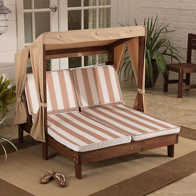 Outdoor Stripes Chaise Lounger Patio Yard Set Pool Home Furniture Deck Sofa Seat