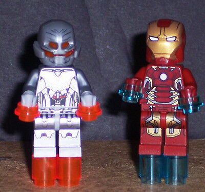 Lego Age Of Ultron Iron Man and Ultimate Ultron Lot of 2 76032 Avengers Marvel