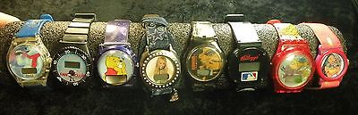 Collectors Look @ Me Lot Of 8 Character & Advertising Watches Parts Repair See