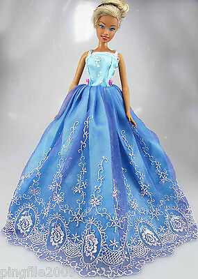 Fashion New Handmade Wedding Dress Clothes Outfits For Barbie Doll #761