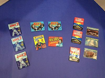 Vintage Topps Wax Packs - KISS, Close Encounters, Jaws 2, Superman the Movie