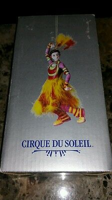 """Cirque Du Soleil Circus Figurine Ornament about 7"""" tall including feathers NEW"""