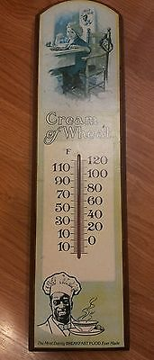 Vintage Wood CREAM OF WHEAT Advertising Thermometer Wall Plaque