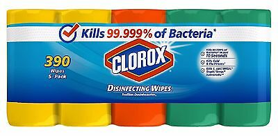 Clorox Disinfecting Wipes Pack Fresh Value 5 Pk 78 Ct each Free Shipping - NEW